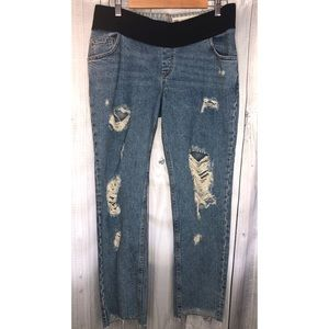 ASOS Denim Maternity Jeans Distressed Rips Sz 8